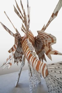 Lionfish, 2013 h 92 inches x L 107 inches x  w 66 inches Medium:   steel, paper, mixed media