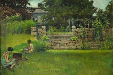 Anna Richards Brewster Weeden House c. 1915 oil on canvas-board
