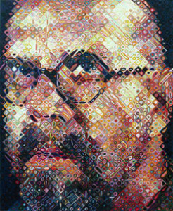 Chuck Close Self-Portrait  Published by Pace Editions, Inc. 2000  111 color silkscreen  Edition of 80 Courtesy Pace Editions, Inc.
