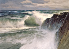 Donald Demers The Oncoming Sea Oil on canvas 2003