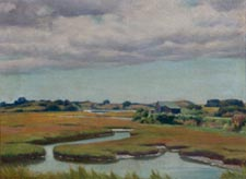Frank Convers Mathewson Marsh September (Salt Pond) 1934 oil on canvas