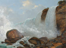 "Niagara: American Falls: Oil on canvas 1853 17"" x 23"" Private collection"