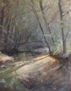 Painting of Roaring Brook by Trenton Youngs